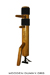 Wooden Dummy Floor Mount Ash-tree Mordant