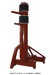 Wooden Dummy Free Standing Pine Red