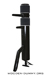 Wooden Dummy Floor Mount Pine Black