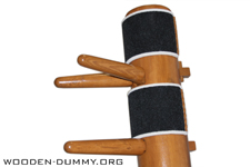 Wooden Dummy Floor Mount