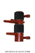 Wooden Dummy Half-Dummy-1 Pine Red