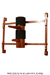 Wooden Dummy Half-Dummy-2 Pine Red